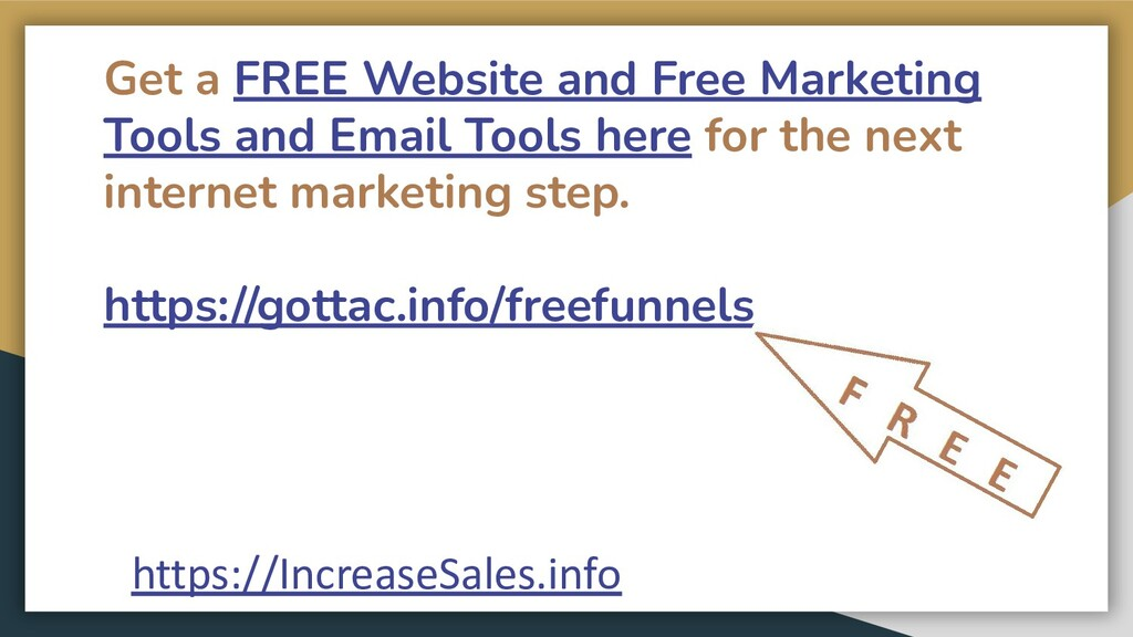 Get a FREE Website and Free Marketing Tools and...