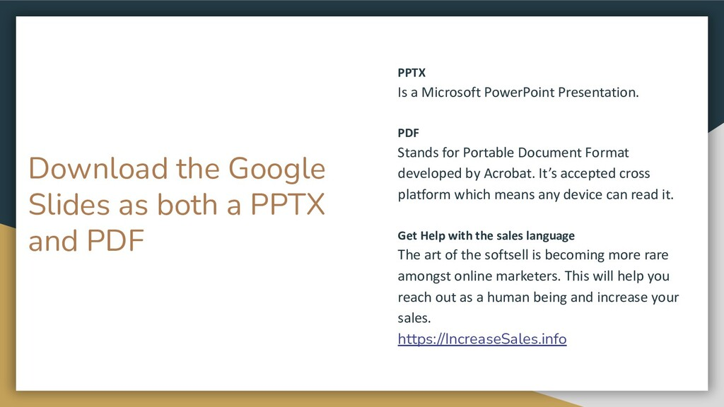 Download the Google Slides as both a PPTX and P...