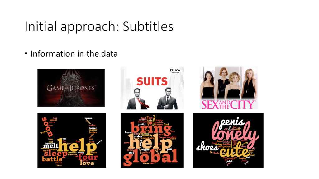 Initial approach: Subtitles • Information...