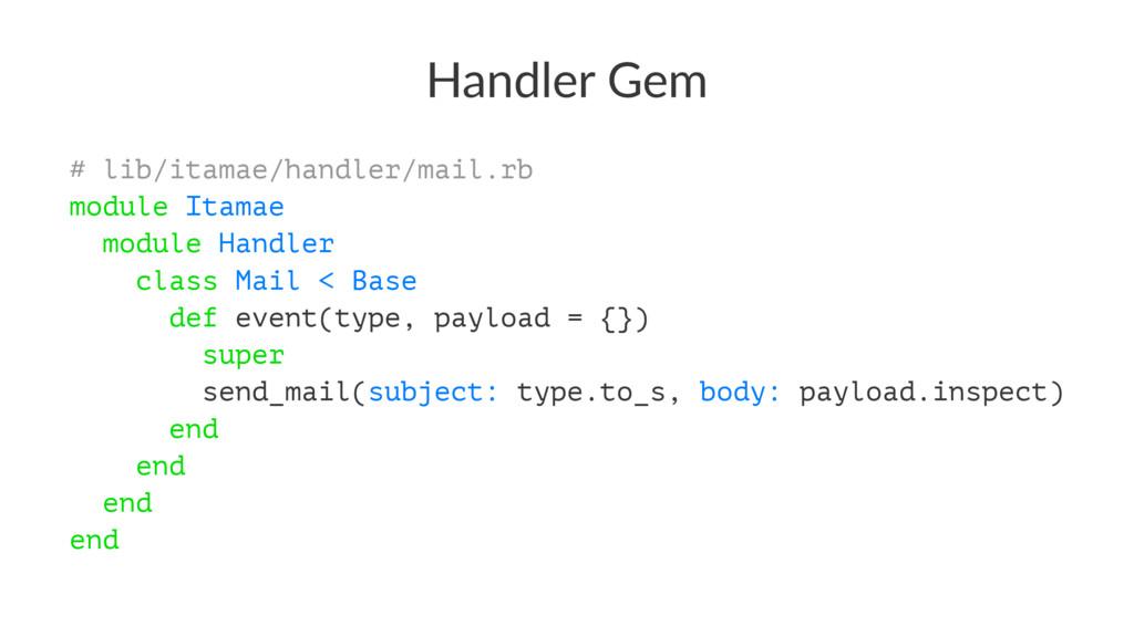 Handler Gem # lib/itamae/handler/mail.rb module...