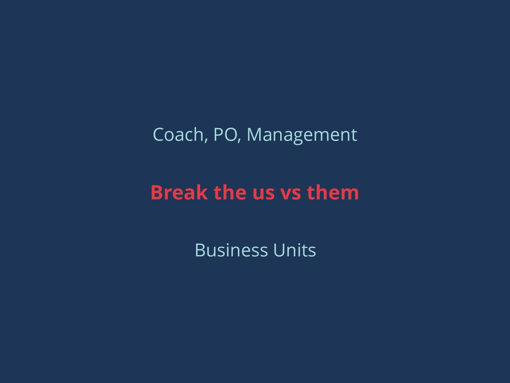 Coach, PO, Management Break the us vs them Busi...