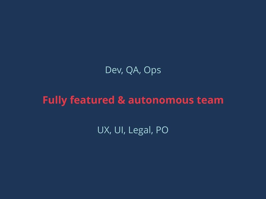 Dev, QA, Ops Fully featured & autonomous team U...