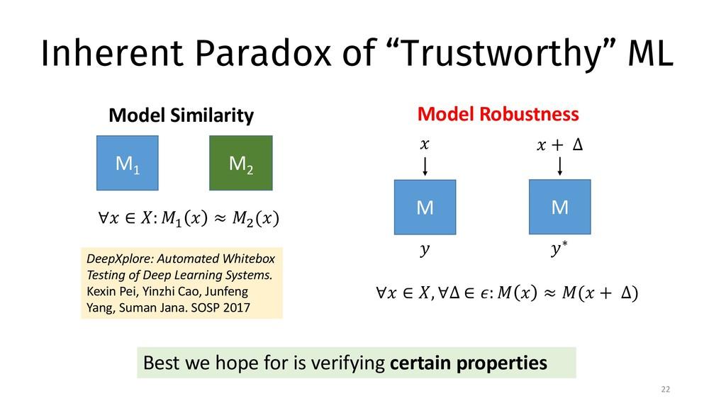 """Inherent Paradox of """"Trustworthy"""" ML 22 Best we..."""