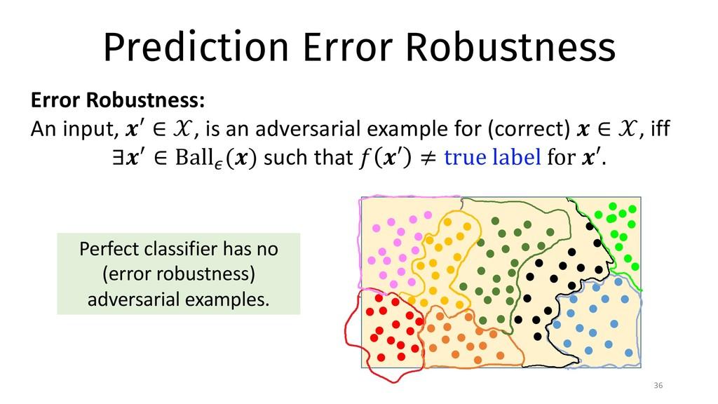 Prediction Error Robustness 36 Error Robustness...