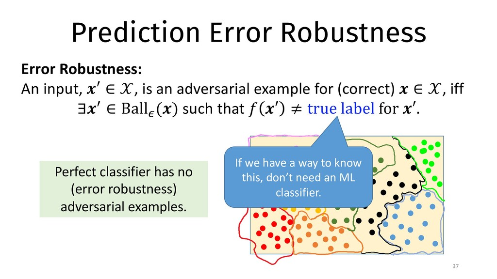 Prediction Error Robustness 37 Error Robustness...