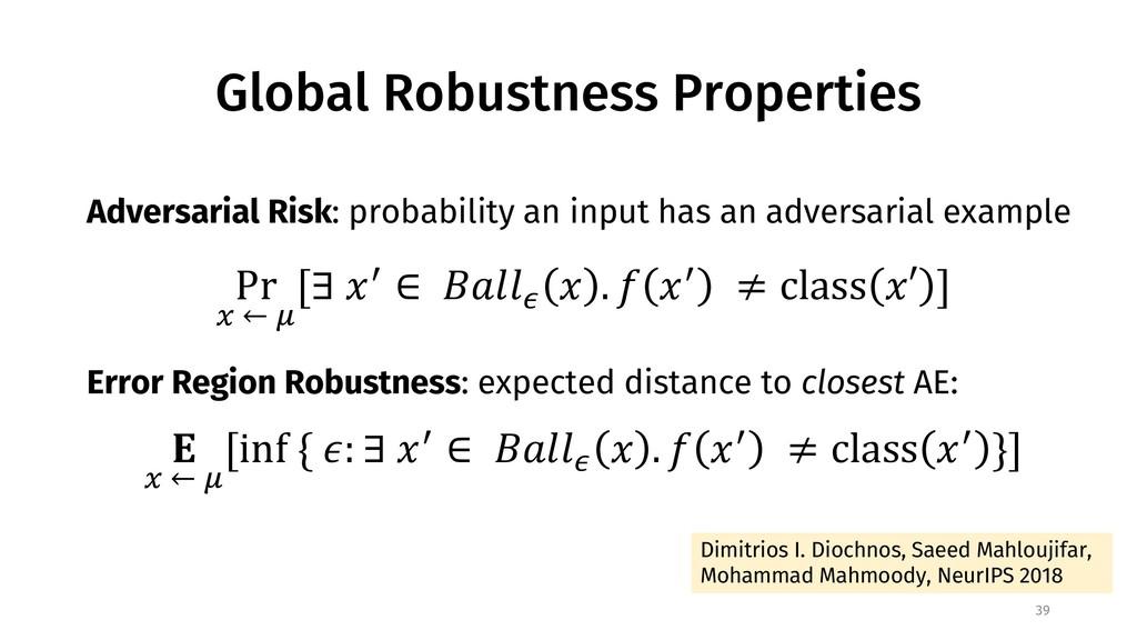 Global Robustness Properties 39 Dimitrios I. Di...