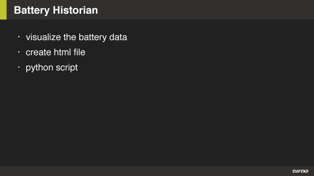 Battery Historian ‣ visualize the battery data ...
