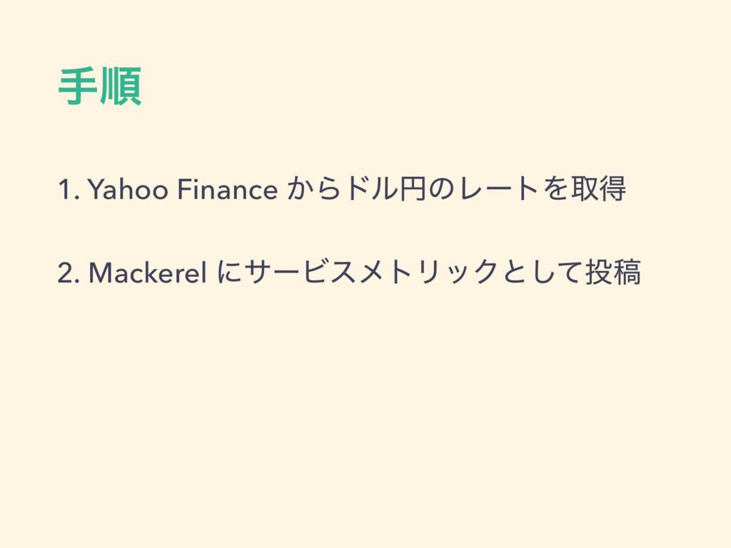 खॱ 1. Yahoo Finance ͔ΒυϧԁͷϨʔτΛऔಘ 2. Mackerel ʹα...
