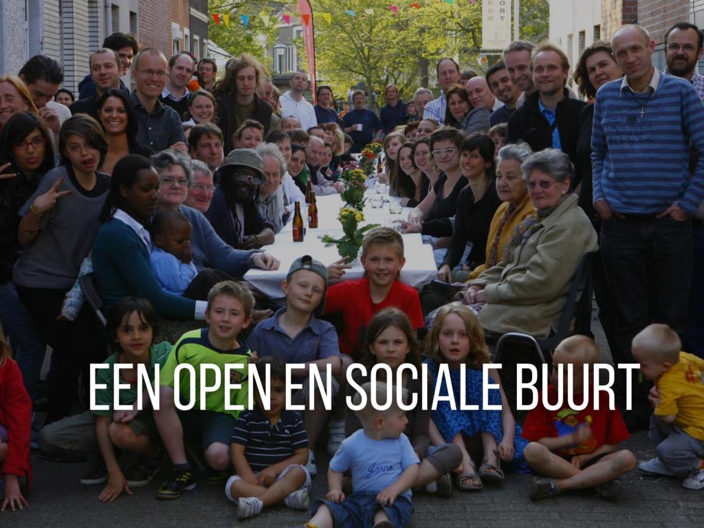 Een open en sociale buurt