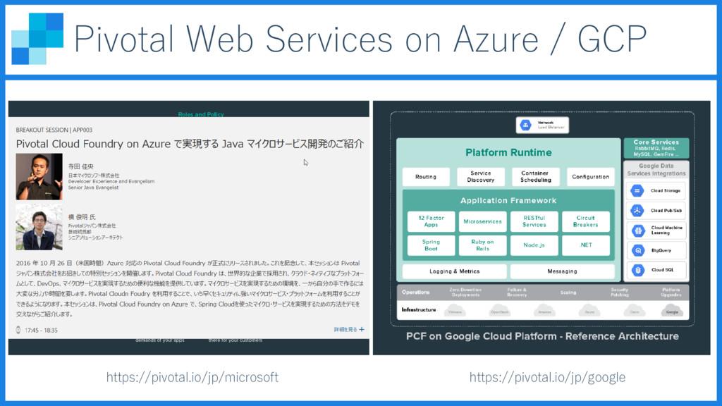 Pivotal Web Services on Azure / GCP https://piv...