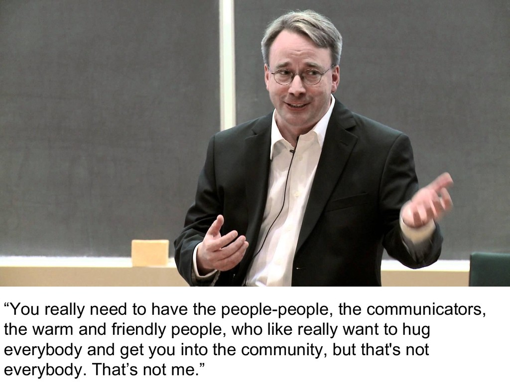 """""""You really need to have the people-people, the..."""