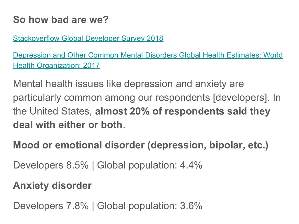 So how bad are we? Stackoverflow Global Develop...