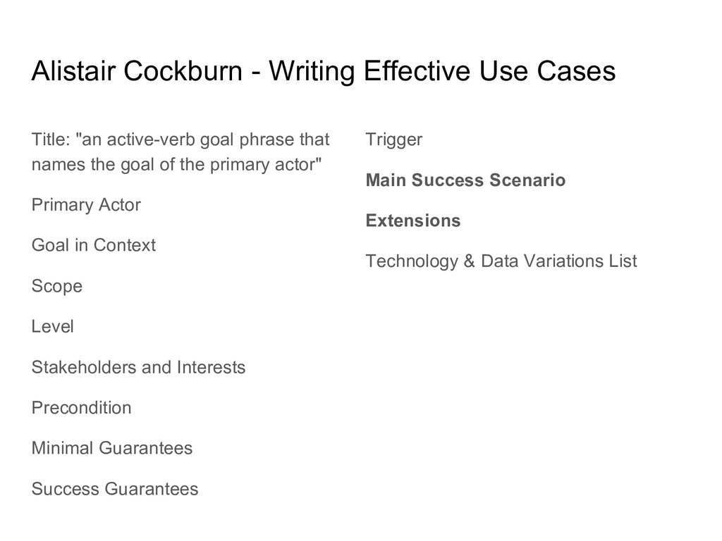 Alistair Cockburn - Writing Effective Use Cases...