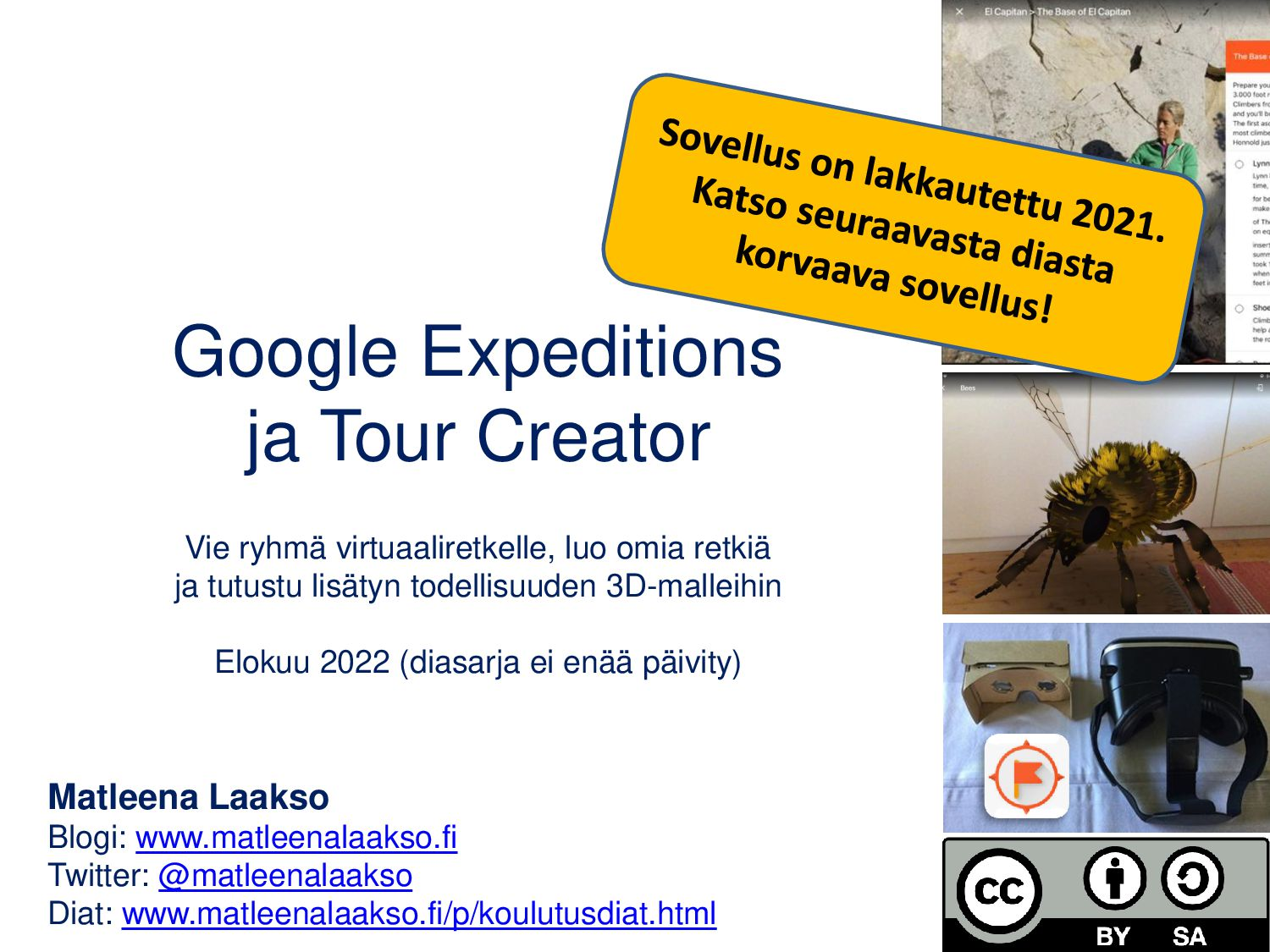 Google Expeditions ja Tour Creator Vie ryhmä vi...