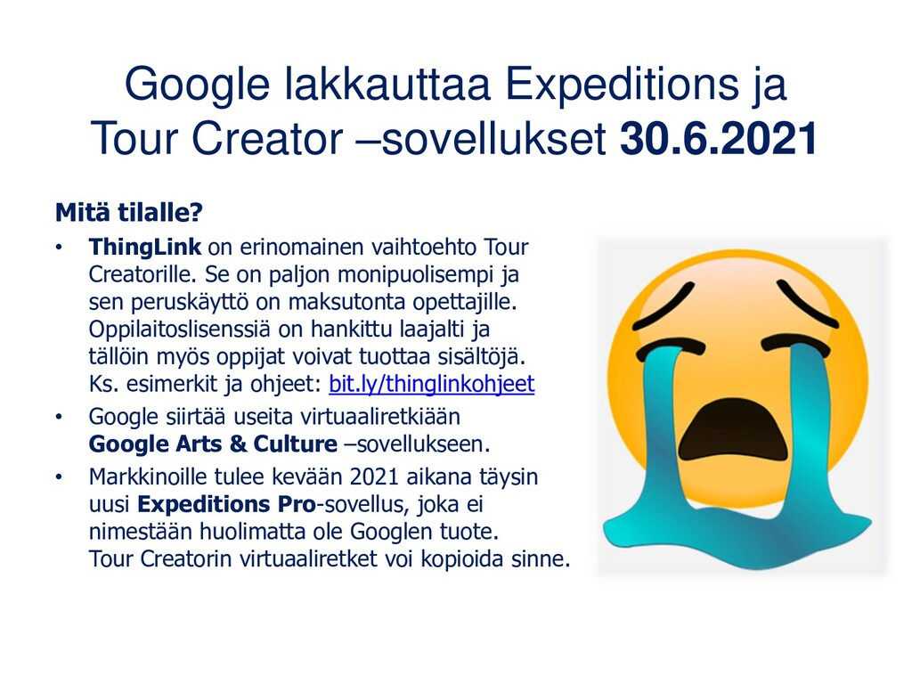Google Expeditions (Android, iOS) Tuhat virtuaa...