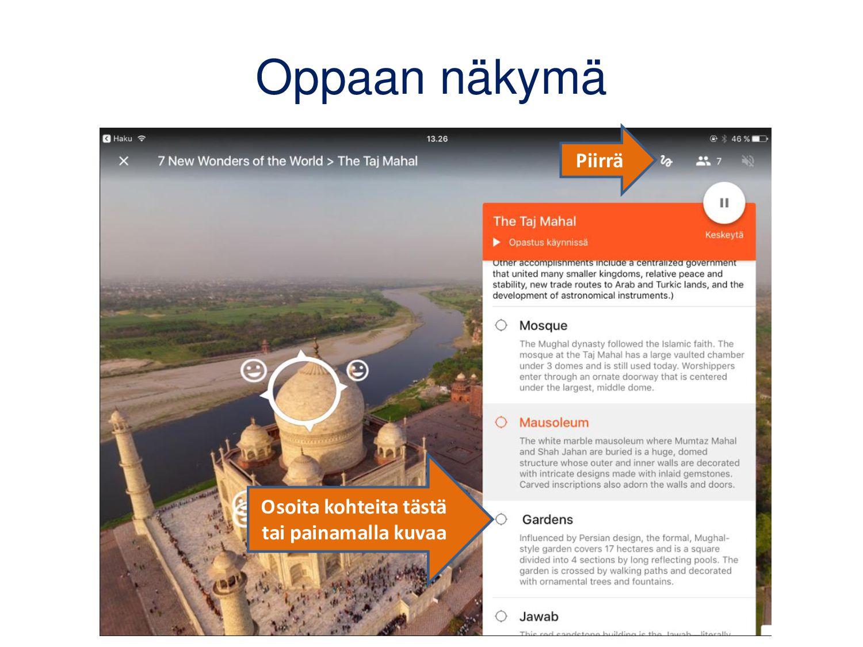 Avaa sisältö VR-lasien näkymään Kun katsot sisä...