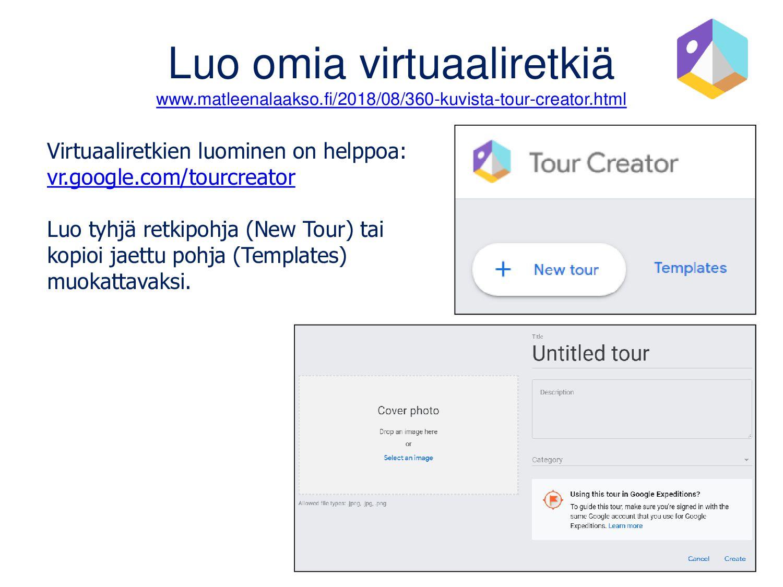 AR-sisällöt Sovelluksen lisätyn todellisuuden (...