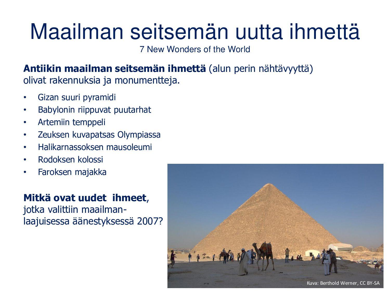 Äänestetään retkikohteesta: www.menti.com Kuvat...