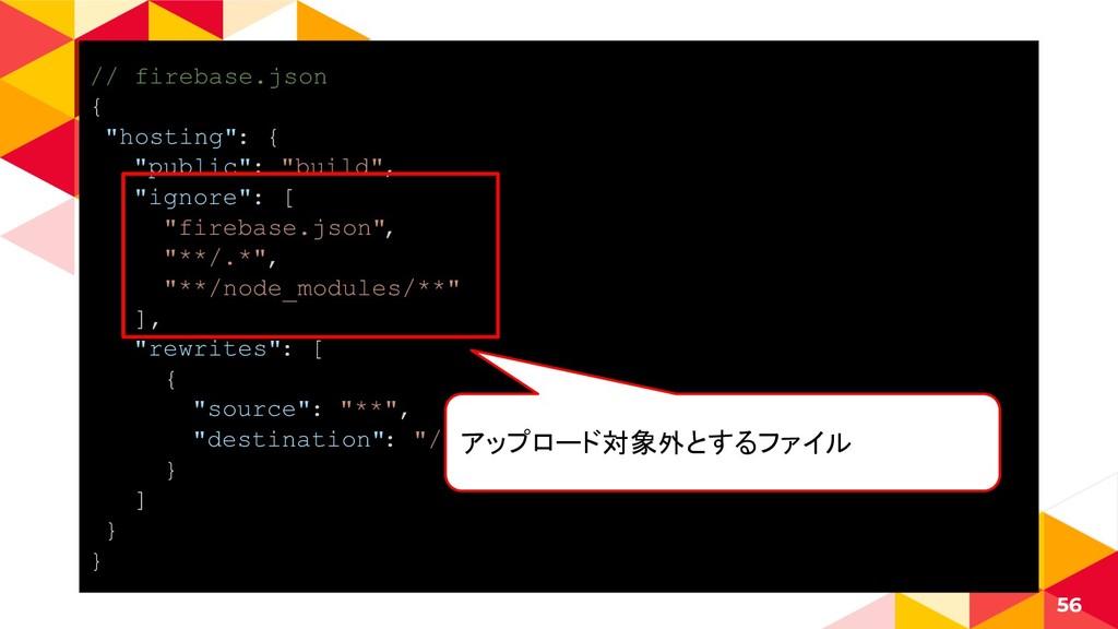 "// firebase.json { ""hosting"": { ""public"": ""buil..."