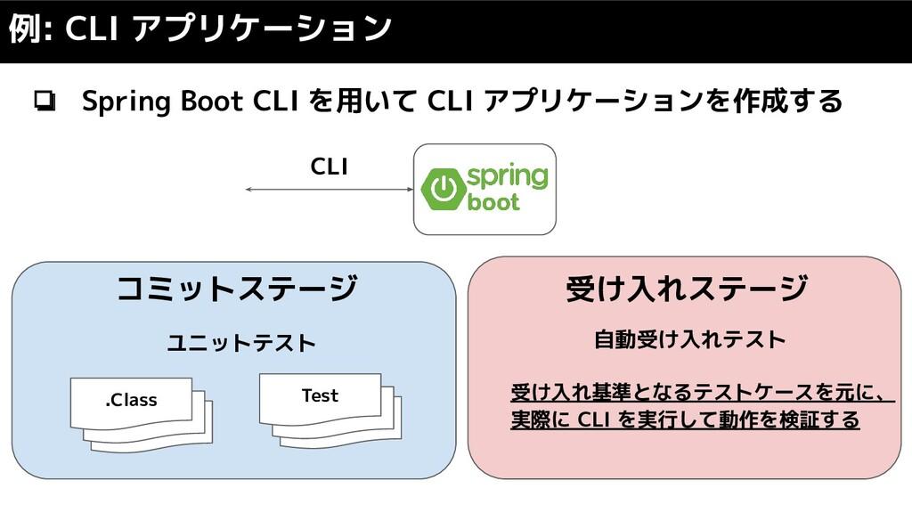 ❏ Spring Boot CLI を用いて CLI アプリケーションを作成する 例: CLI...