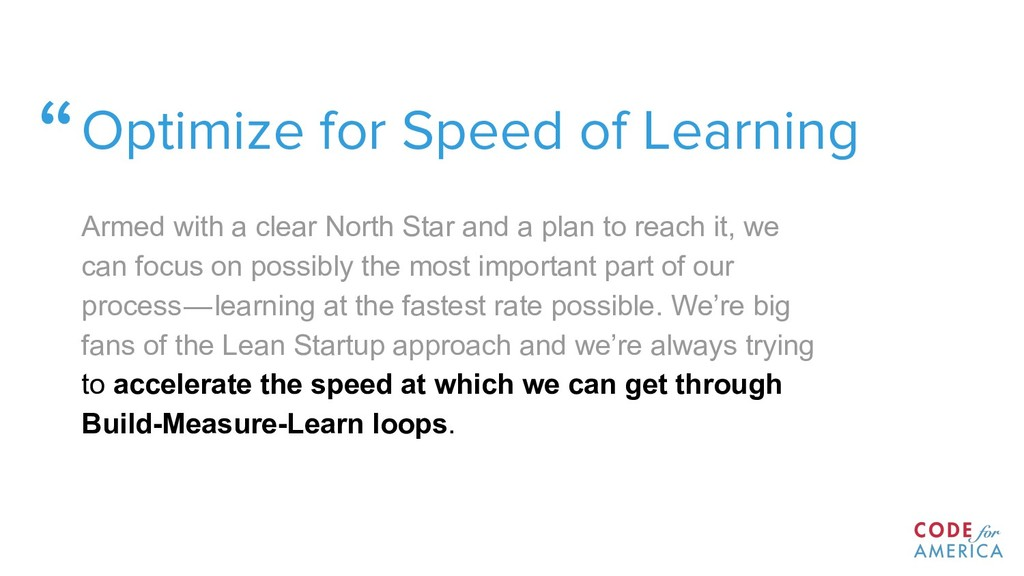 """Optimize for Speed of Learning Armed with a cl..."