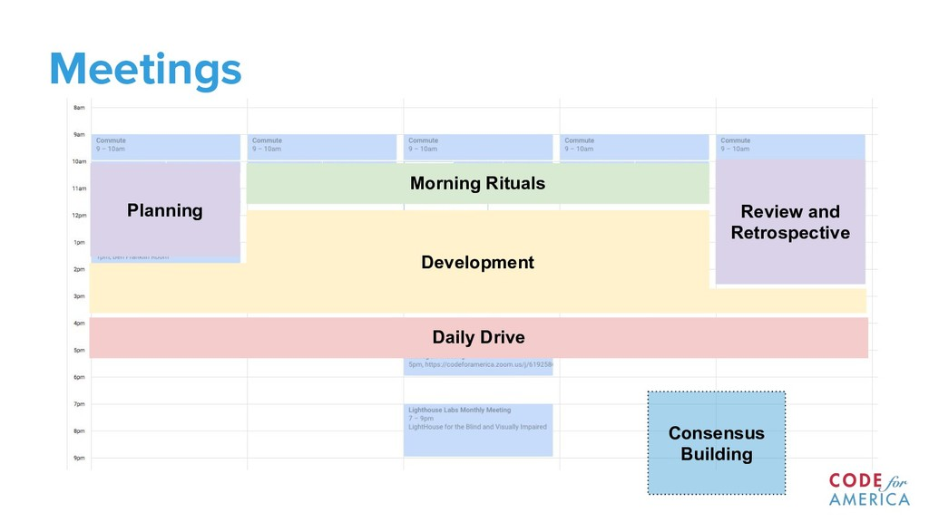 Meetings Morning Rituals Daily Drive Planning R...
