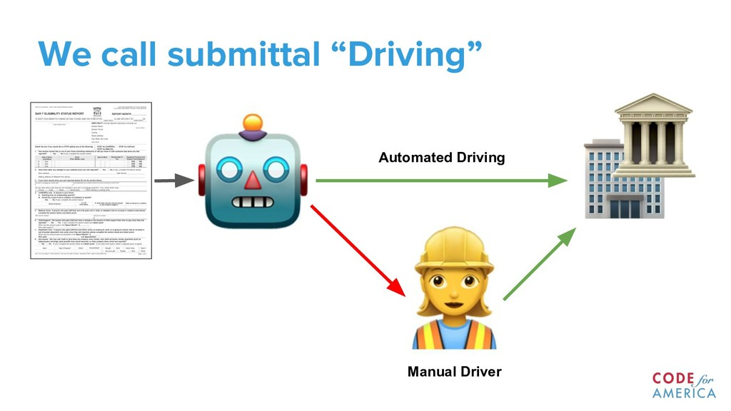 "We call submittal ""Driving"" Automated Driving M..."