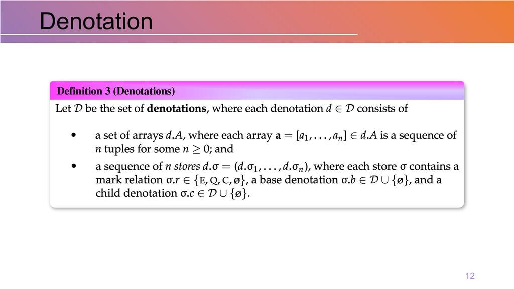 Denotation 12 Definition 3 (Denotations)