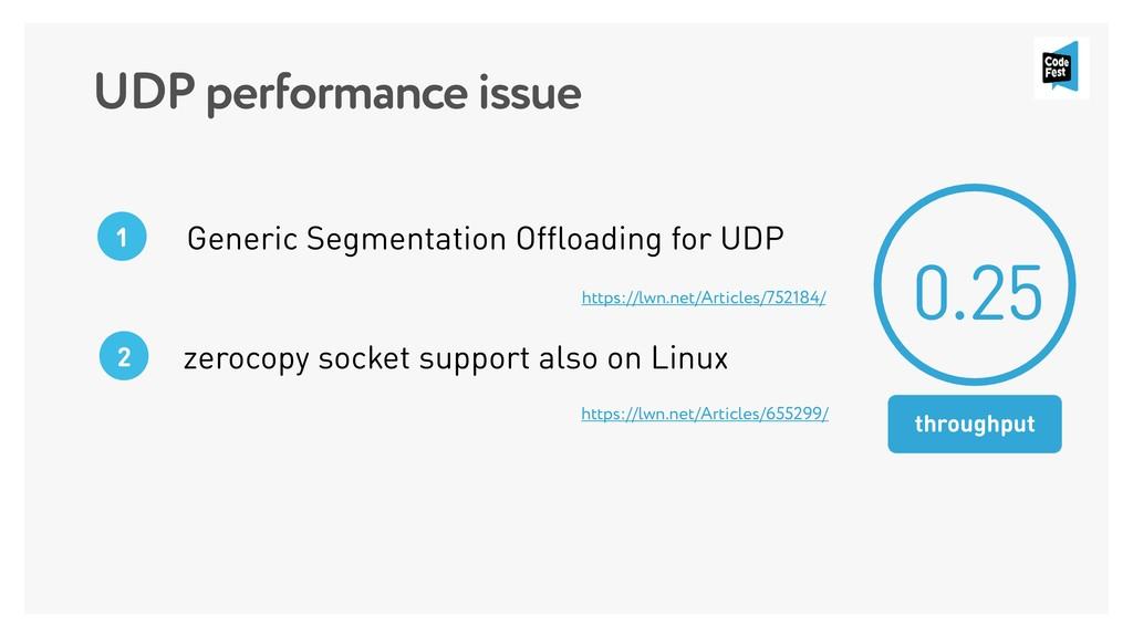 UDP performance issue Generic Segmentation Offl...