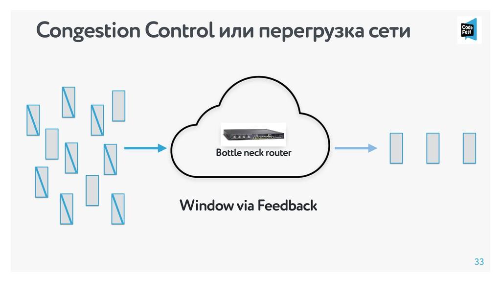 Bottle neck router Window via Feedback Congesti...