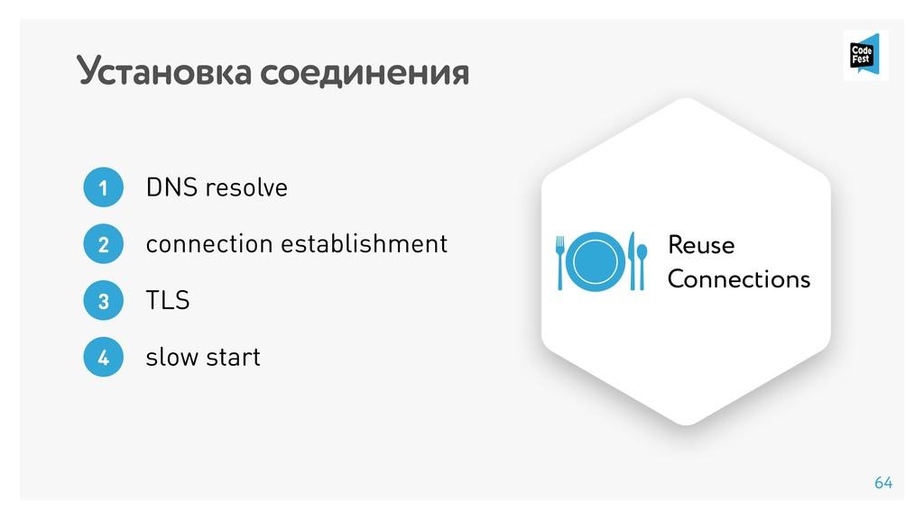 Установка соединения DNS resolve 1 connection e...