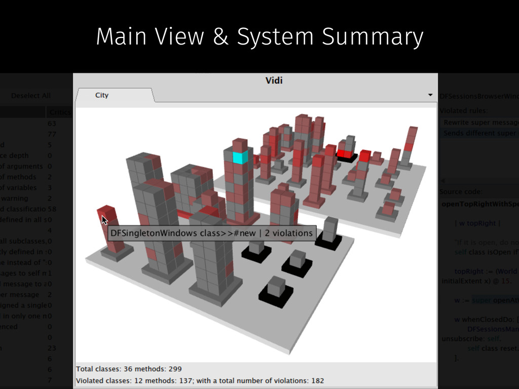 Main View & System Summary