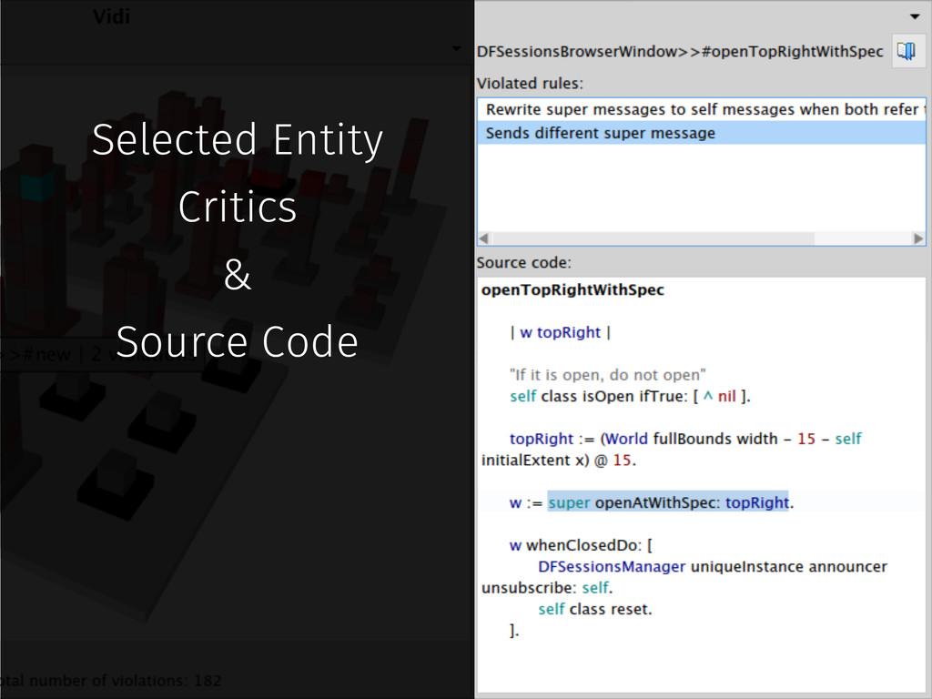 Selected Entity Critics & Source Code