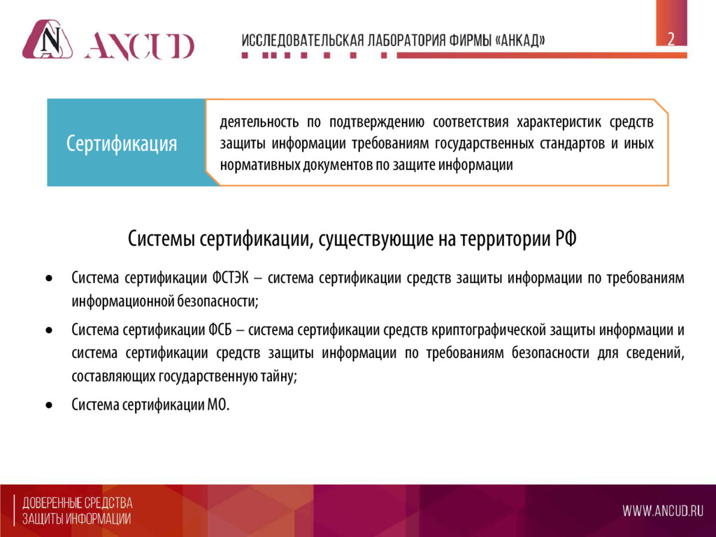 2 Сертификация деятельность по подтверждению со...