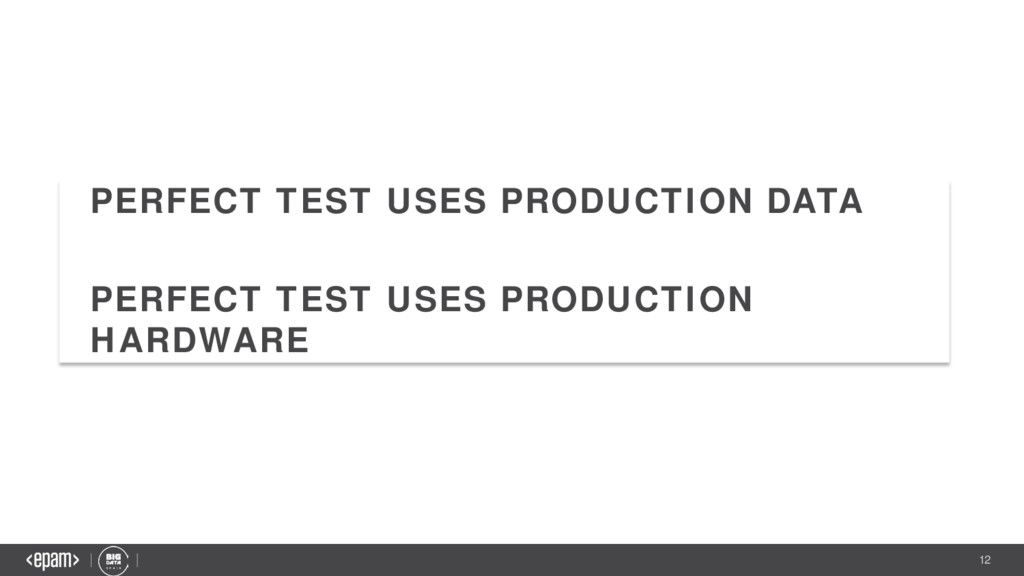12 PERFECT TEST USES PRODUCTION DATA PERFECT TE...