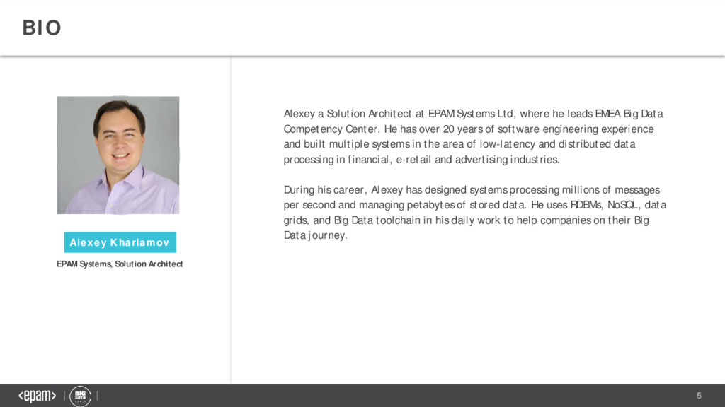 5 BIO Alexey a Solution Architect at EPAM Syste...
