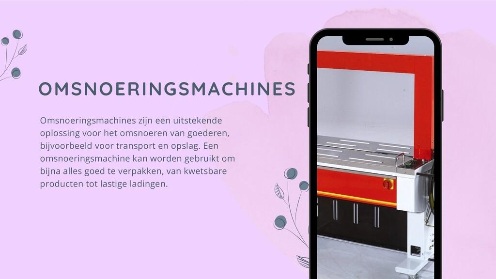 OMSNOERINGSMACHINES Omsnoeringsmachines zijn ee...