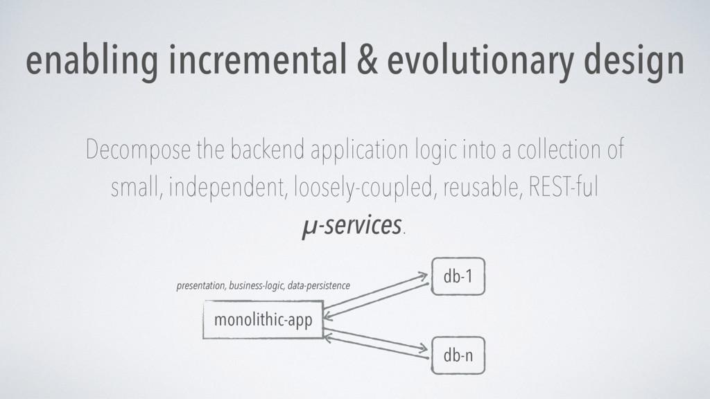 enabling incremental & evolutionary design Deco...