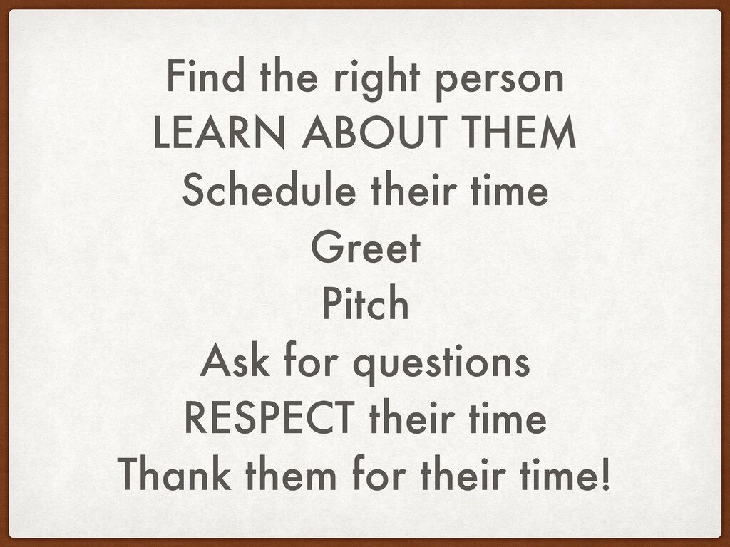 Find the right person LEARN ABOUT THEM Schedule...