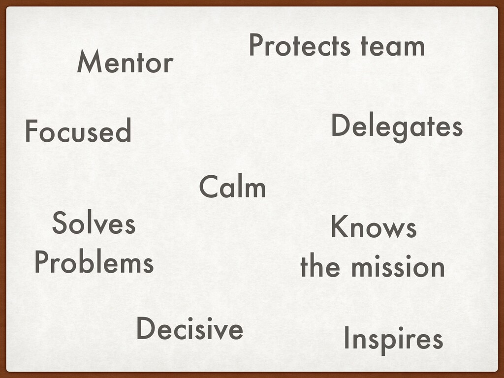 Mentor Inspires Calm Delegates Solves Problems ...