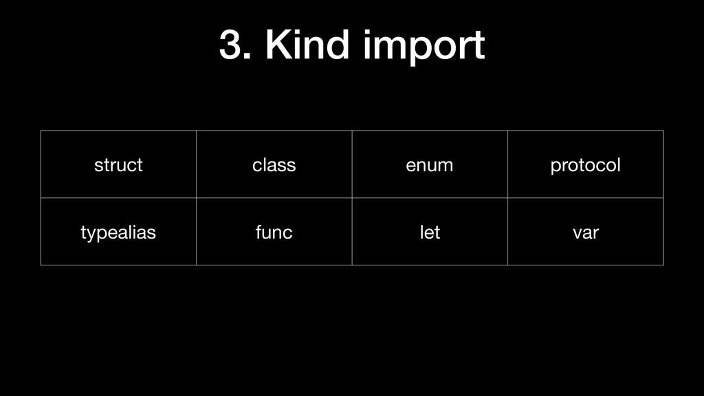 struct class enum protocol typealias func let v...