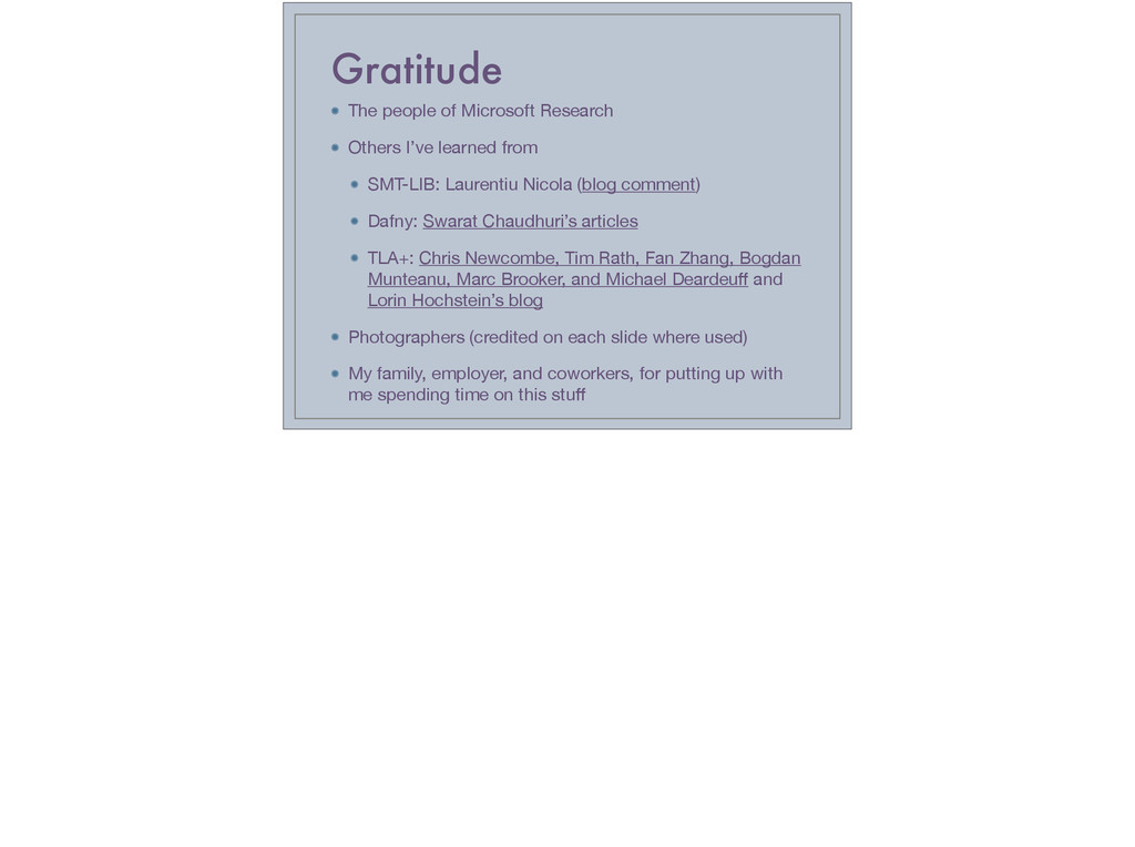 Gratitude The people of Microsoft Research  Oth...
