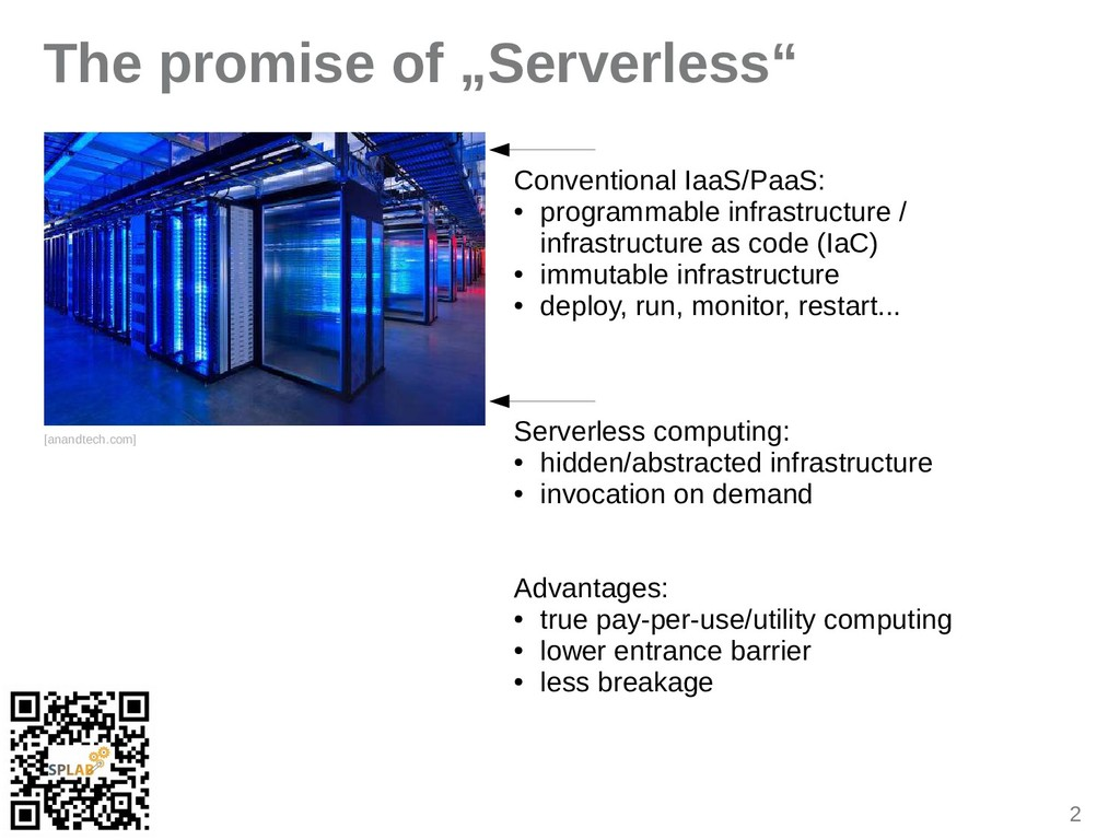 "2 The promise of ""Serverless"" [inindtech.com] C..."