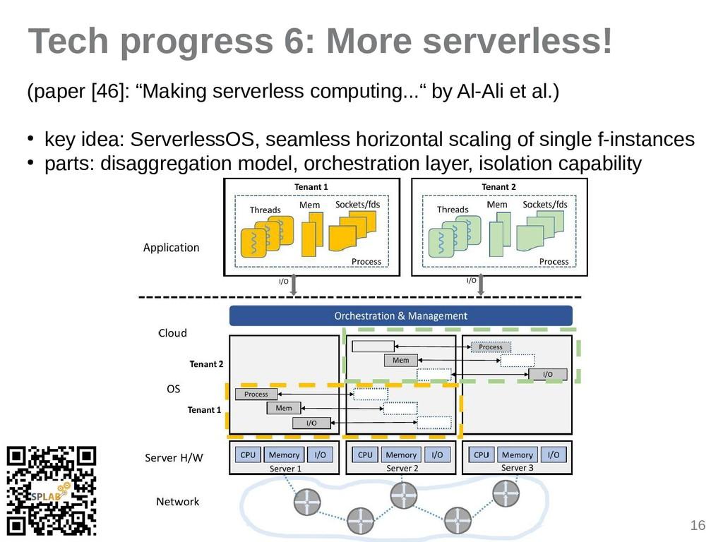 16 Tech progress 6: More serverless! (piper [46...