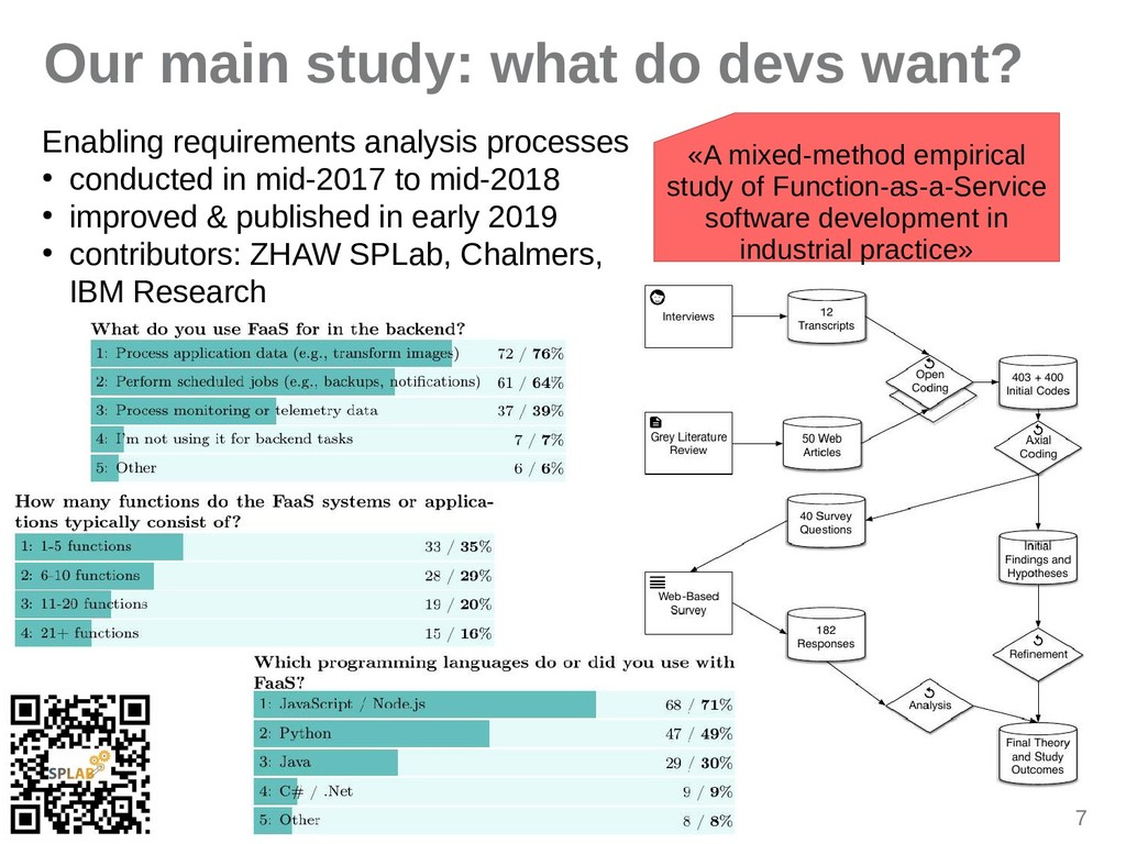 7 Our main study: what do devs want? Enibling r...