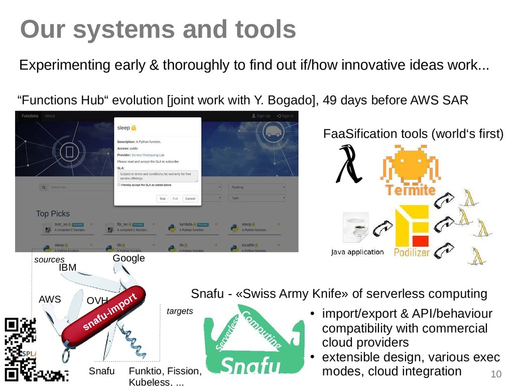 10 Our systems and tools Experimenting eirly & ...