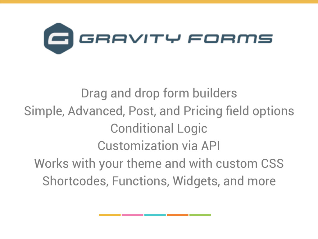 Drag and drop form builders Simple, Advanced, P...