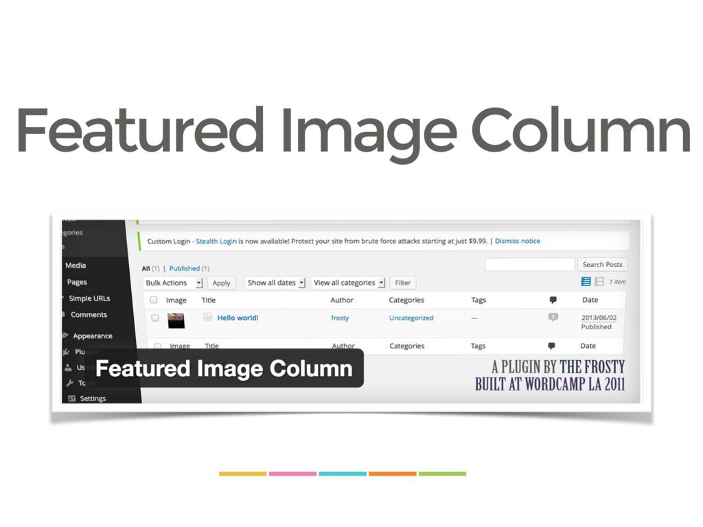 Featured Image Column