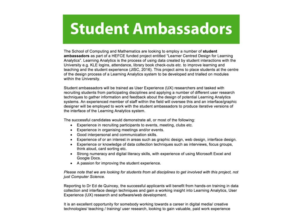 Student Ambassadors