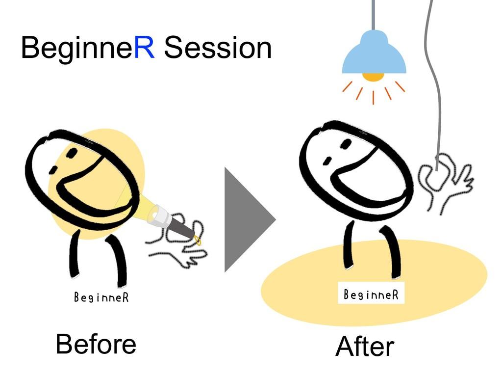 Before After BeginneR Session BeginneR BeginneR